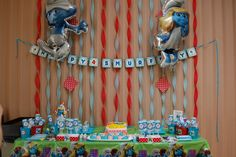 Smurfs Birthday Party Ideas | Photo 14 of 18 | Catch My Party
