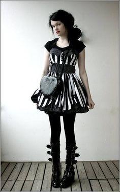 Goth dress lolita nu goth black