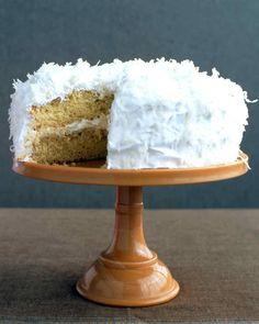 This delicious coconut cake has lemon curd which adds tartness to the filling.