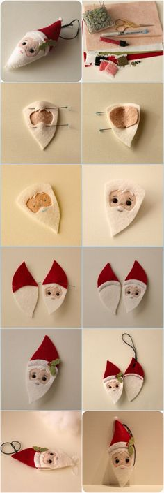 Embroidery Tattoo Images whenever Crewel Embroidery Christmas Stocking Kits Dimensions beyond Embroidery Floss Keychain except Embroidery Patterns Free these Embroidery Designs Reading Pillows Christmas Makes, Noel Christmas, Homemade Christmas, Christmas Projects, Felt Crafts, Holiday Crafts, Diy Crafts, Felt Christmas Decorations, Felt Christmas Ornaments