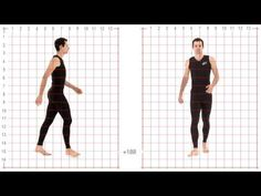 Animation Reference - Athletic Male Standard Walk - YouTube