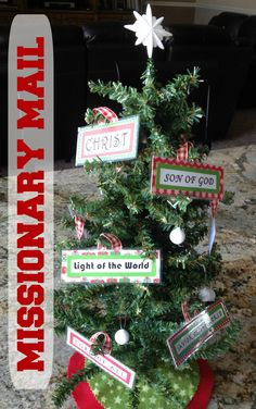 Missionary Mail: Christmas Tree to mail with names of the Savior as ornaments