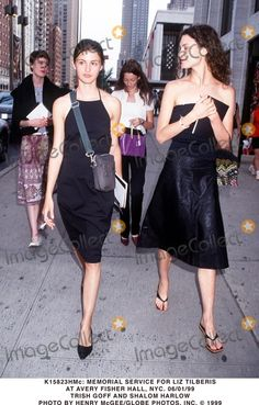 Trish Goff, Shalom Harlow, Erin O'Connor and Audrey Marnay at the Memorial Service for Liz Tilberis June 1999.
