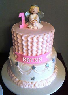 Childrens Birthday Cakes - Buttercream Angel Cake for Birthday Buttercream Cake, Fondant Cakes, Cupcake Cakes, Baby Cakes, 12th Birthday Cake, First Birthday Cakes, Ice Age Cake, Fire Engine Cake, Guitar Cake