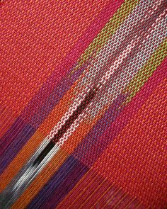 great use of space dyed yarn in warp