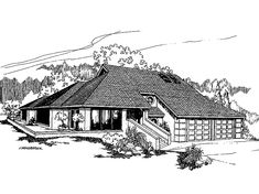 Shed House Plan with 2382 Square Feet and 4 Bedrooms from Dream Home Source | House Plan Code DHSW07692