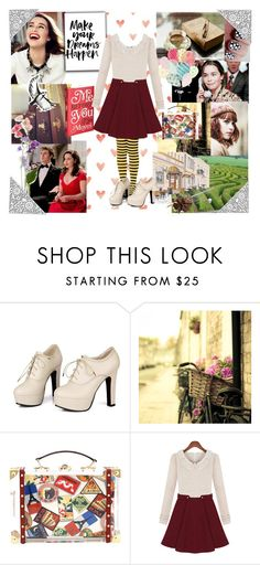 """""""Literary Looks : Louisa (Lou) Clark ~ Me Before You"""" by sadiaazam22 ❤ liked on Polyvore featuring Sidewalk, French Country and Charlotte Olympia"""