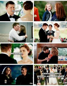 Happy anniversary Mr. and Mrs. Booth ❤