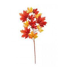 Διακοσμητικό Φθινοπωρινό κλαδί Κίτρινο - Πορτοκαλί 90cm | eshop-dcse Autumn Park, Dandelion, Flowers, Plants, Dandelions, Plant, Taraxacum Officinale, Royal Icing Flowers, Flower