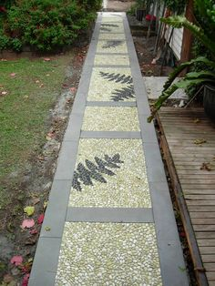 Interesting decking type walk way