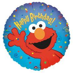 "Elmo Happy Birthday Balloon 18"""