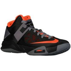 Nike Zoom Soldier VI - Men's - Basketball - Shoes - Black/Charcoal/Total Orange