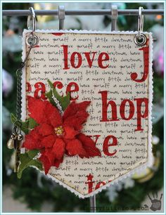 Tammy Tutterow Tutorial | Christmas Art Banner Pockets