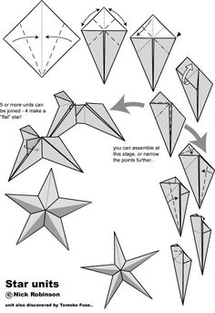 Origami Star Units- for older kids in the astronomy tent