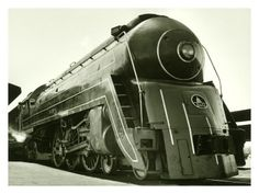 An early Art-Deco designed coal-powered steam locomotive. Simple and beautiful in its own right, and doubtlessly with all the right sounds. I wish train locomotives still sounded like this. Baltimore And Ohio Railroad, Train Art, Old Trains, Train Pictures, Train Engines, Automobile, Electric, Steam Engine, Steam Locomotive