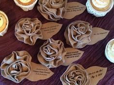 Hey, I found this really awesome Etsy listing at https://www.etsy.com/listing/181529693/burlap-flower-magnet-favors-unique