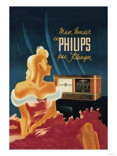 Radio's & grammofoons (vintage posters) Poster bij AllPosters.nl
