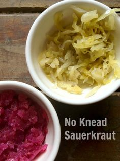 No Knead Sauerkraut