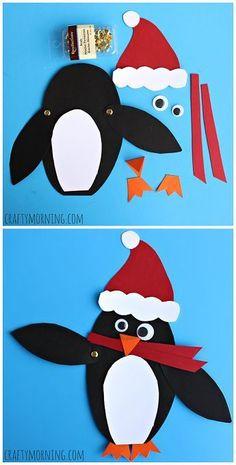 Moveable Christmas Penguin Craft for Kids - Crafty Morning penguin kid craft Preschool Christmas, Christmas Activities, Craft Activities, Preschool Crafts, Craft Kids, Christmas Crafts For Kids, Xmas Crafts, Winter Christmas, Santa Crafts For Kids To Make