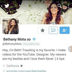 Thank You So Much @bethanynoelm!!! I love you so much!!!  #Motavator #MotaFam is the best!!! ♡♡♡♡♡♡
