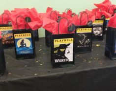 Broadway gift bags for party favors.