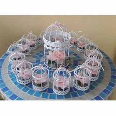 Wedding Favours, Party Favors, Ideas Para Fiestas, Bird Cage, Party Fashion, Flower Vases, Party Themes, Centerpieces, Arts And Crafts