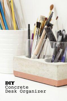 DIY Concrete Desk Or