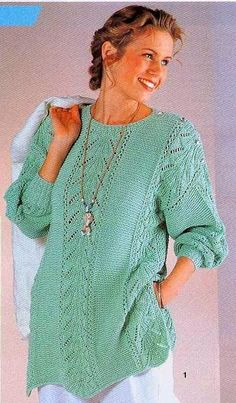 Poncho Knitting Patterns, Mittens Pattern, Knitting Stitches, Summer Knitting, Easy Knitting, Pullover Mode, Hand Knit Scarf, Girls Sweaters, Sweater Fashion