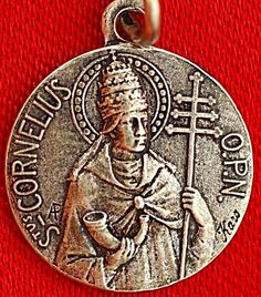 Vintage Religious Medal Saint Cornelius Signed Karo AP (Image1)Small rare vintage holy medal signed KARO AP featuring Saint Cornelius. Just a hair over 1/2 inch wide plus loop and bail.
