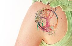 Tree of life watercolor - Temporary tattoo by TTTattoodotcom on Etsy…
