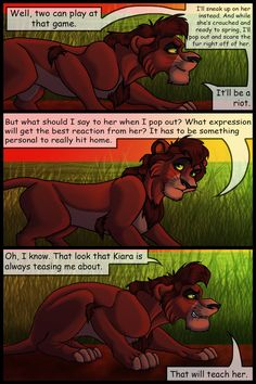 Kiara y kovu, parte 37 Lion Story, Le Roi Lion, Sneaks Up, Movies And Tv Shows, Fan Art, Deviantart, Anime, Fictional Characters, Lost