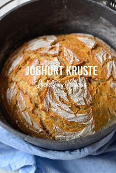 Yogurt crust - simply good bread like from the baker - Brot backen - French Recipes Best Bread Recipe, Bread Recipes, Baking Recipes, A Food, Food And Drink, Austrian Recipes, French Food, Pampered Chef, Creative Food