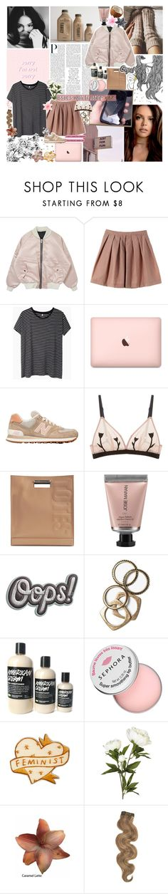 """emotionally unavailable; ♥"" by stainedcoffeecup ❤ liked on Polyvore featuring R13, New Balance, Morgan Lane, 3.1 Phillip Lim, Josie Maran, Anya Hindmarch, Rachel Leigh, Sephora Collection, OKA and Clips"