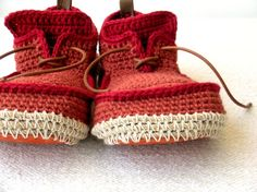 Eco House Shoes with Leather Sole in rusty red  all by leninka, $89.00