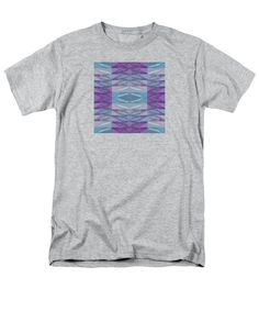 Feathers Men's T-Shirt (Regular Fit) featuring the digital art Feathers Square by Expressionistartstudio Priscilla-Batzell