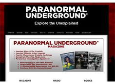 This clean paranormal website design is a good layout example for anyone. The style is simple, clean and easy to navigate.