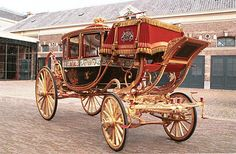 Old type Dutch royal carriage