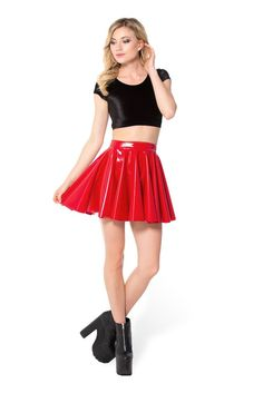 Take her out for a spin. Our cheerleader skirts are full, flouncy garments ideal for dancing, twirling, and looking generally stunning in. Super bright and craz Pvc Skirt, Latex Skirt, Latex Dress, Dress Skirt, Cute Casual Outfits, Sexy Outfits, Sexy Dresses, Dress Outfits, Red Skirts