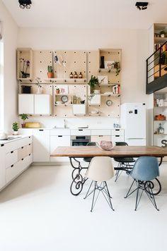 School teachers' lounge transformed into contemporary loft apartment by Standard Studio.