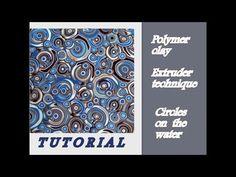 (90) DIY| Polymer clay | Extruder technique. Как создать узор из полимерной глины в экструдерной технике. - YouTube