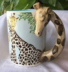 FIVE AND DIME Raised Giraffe MUG