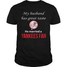 Cool  Yankees My Husband Taste tshirt Shirts & Tees