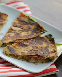 Quesadillas get an Indian fusion twist with a curry-spiced veggie filling!