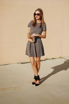 Xhileration Quilted crop top and matching quilted skater skirt, Pixxie Market Erin Wrap Heels