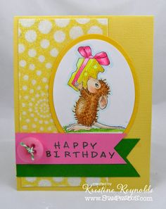Stamping & Scrapping in California: Spring Birthday #cre8time with #Stampendous and #DreamweaverStencils