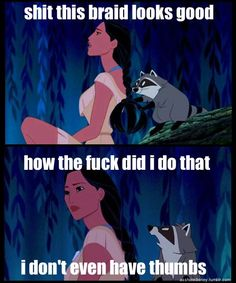 I hate the language, but I love the thought (and who doesn't love Meeko?!?!)