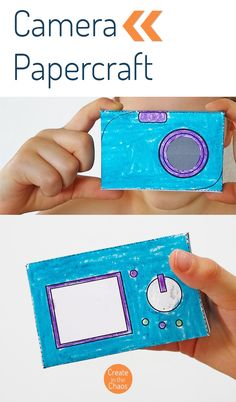 Printable Camera Papercraft - Create in the Chaos Interactive Activities, Craft Activities For Kids, Crafts For Kids, Printable Crafts, Printables, Camera Crafts, Pretend Play, Are You Happy, Classroom