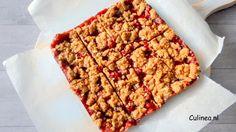 Aardbeien crumble koek