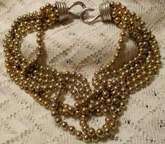 Vintage Givenchy Multi Strand Silver Tone by ViksVintageJewelry, $59.99