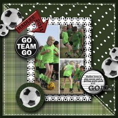 Soccer Sayings for Scrapbooking | Soccer themed scrapbook page layout